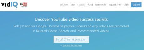 vidIQ Vision for YouTube seo sem
