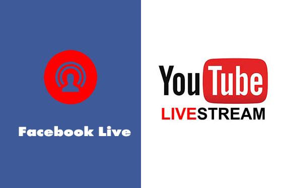 facebook live youtube live internet marketing